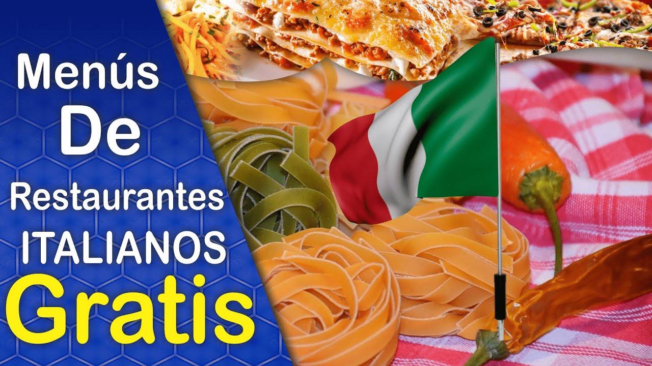 Dise os de men s para restaurantes comida italiana for Menu para comida familiar