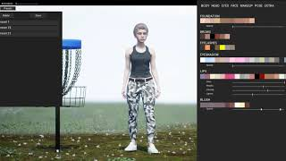 Disc Golf Video Game - Ultimate Disc Golf Character Creation Preview