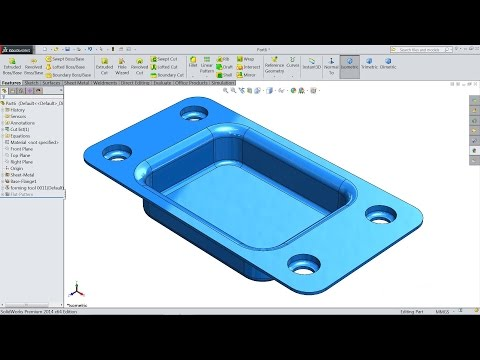 Solidworks Sheet Metal tutorial forming tool