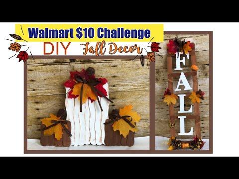 Walmart FALL DIY   $10 Challenge Collab