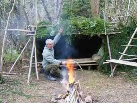 ... long term wilderness shelter 7 of 7 heating the shelter.wmv - YouTube
