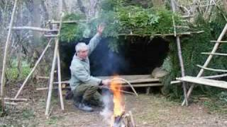 bushcraft survival long term wilderness shelter  7 of 7 heating the shelter.wmv thumbnail