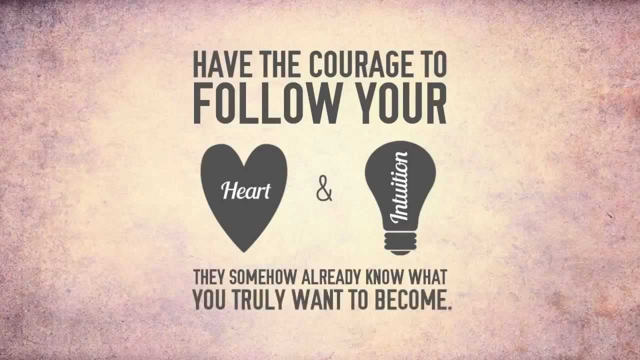 Follow Your Heart Steve Jobs Follow Your Heart And Intuition Kinetic Typography