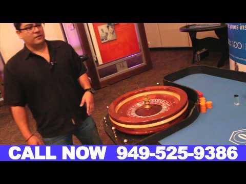 Roulette Table Rentals Orange County California (949) 525-9386