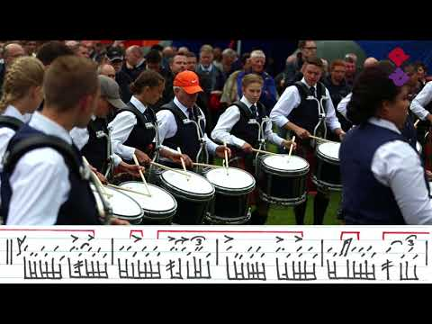 Simon Fraser University Pipe Band Drum With Music - World Pipe Band Championships 2017
