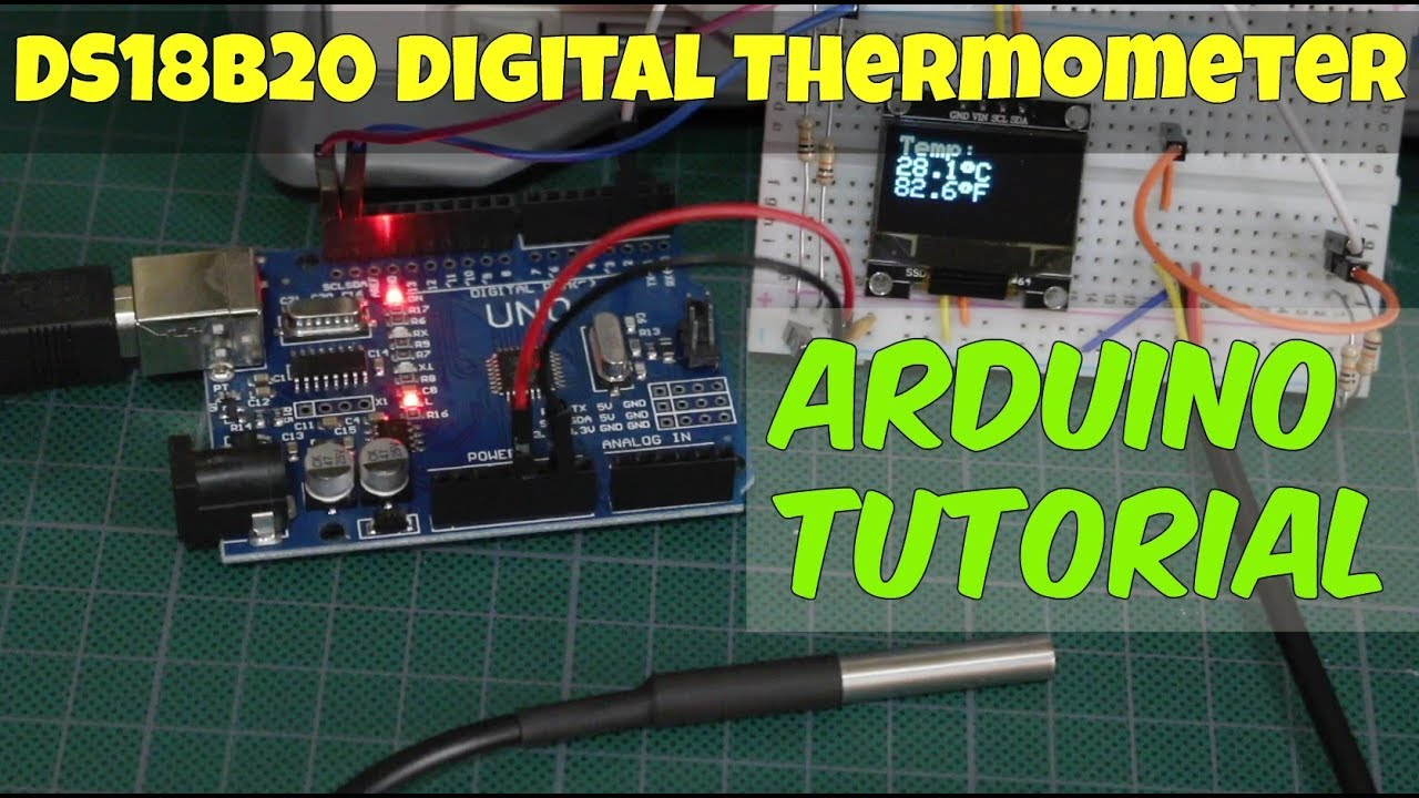 DS18B20 Arduino Temperature Sensor - How to Tutorial by Gadget Reboot