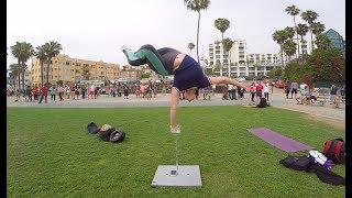 Michael Peres   Training at Santa Monica Beach 06-29-2017