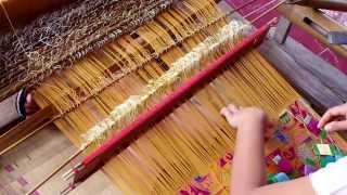 Songket Backstrap Weaving in  Muncan Bali INDONESIA by  Ni Jero puspitawati