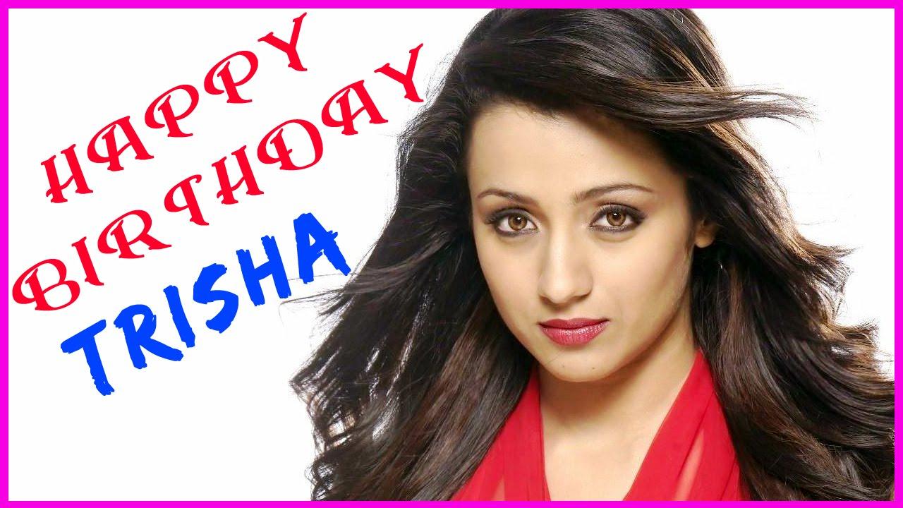 Happy birth Day HD wallpaper of Trisha krishnan