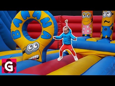 Thumbnail: Five Little Monkeys Jumping On The Bed / Baby Play at Fun Fair / Baby Nursery Rhymes Simple Songs
