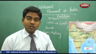 National Movements -India-Partition & Independence - AP & TS - 10th State Syllabus Social Studies