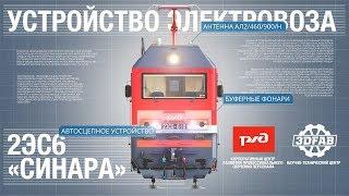 Устройство электровоза 2ЭС6 «Синара»