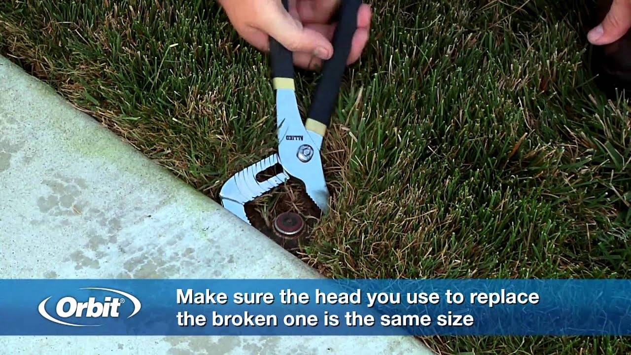 How To Replace A Sprinkler Head Youtube