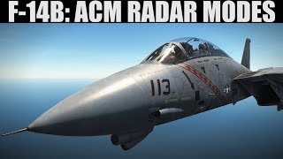 F-14B Tomcat: ACM/WVR Radar Modes(PLM, VSL, PAL & MRL) Tutorial | DCS WORLD