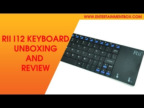 7ae577d67a5 Rii i12 wireless keyboard Review, Guide, Unboxing - YouTube