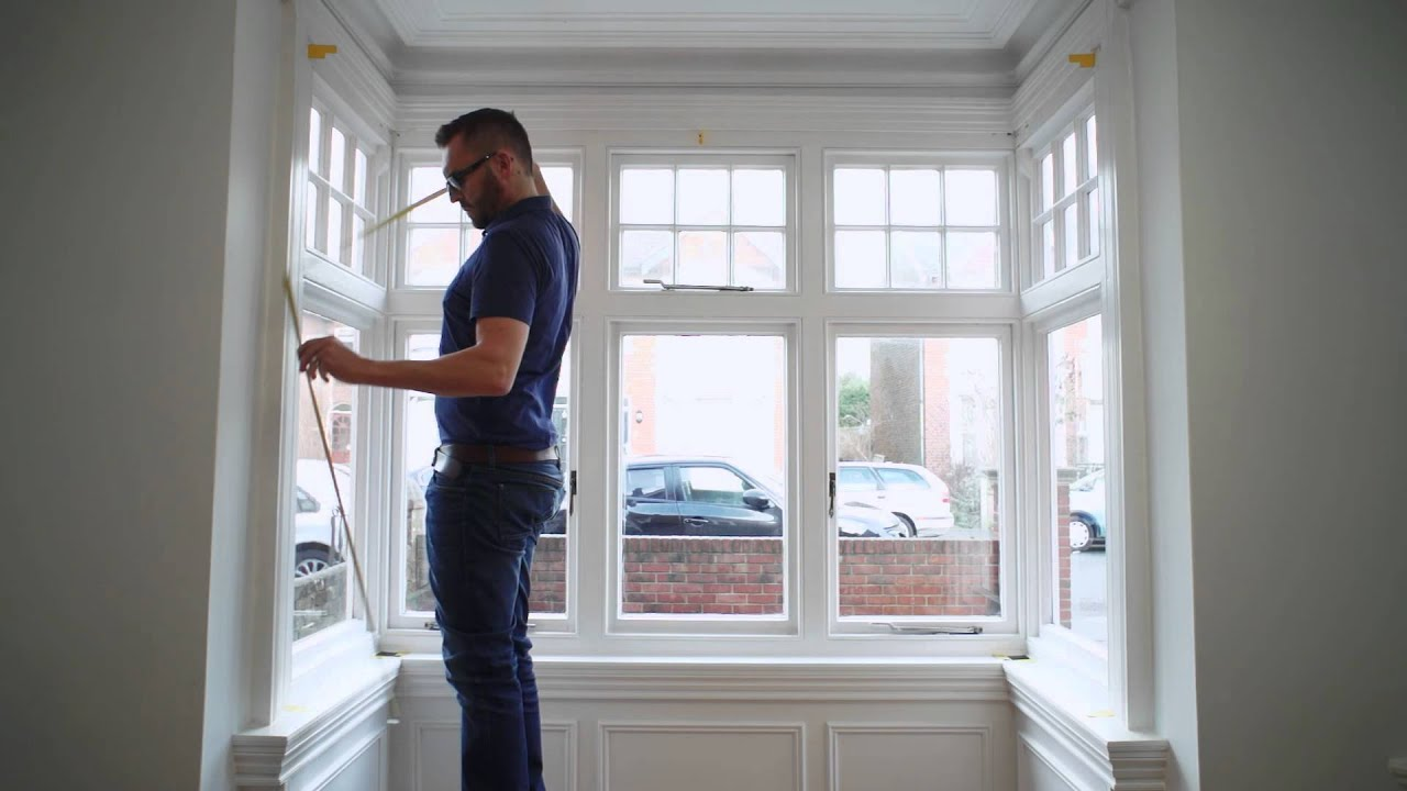 How To Measure A Box Bay Window For Shutters Youtube