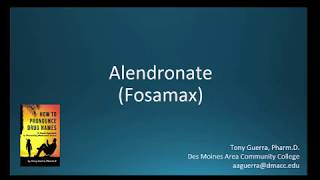(CC) How to Pronounce alendronate (Fosamax) Backbuilding Pharmacology