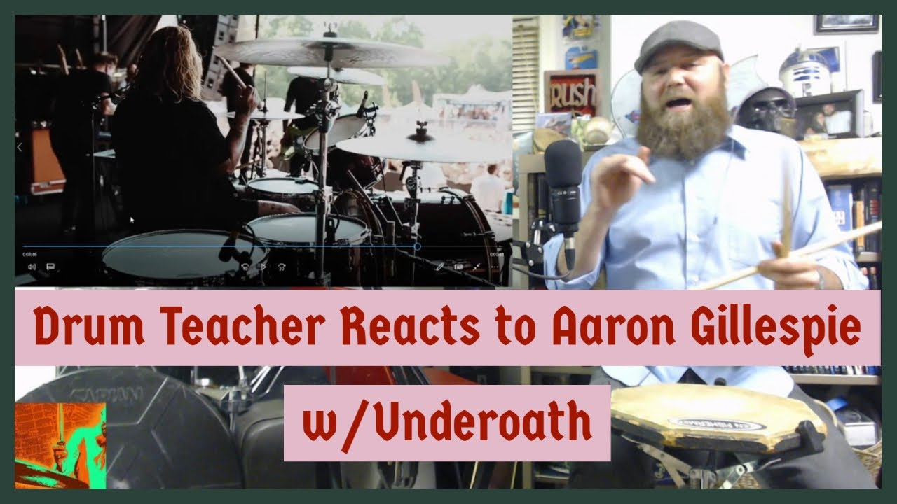 Drum Teacher Reacts - Aaron Gillespie - Underoath - A Boy Brushed Red - Episode 85