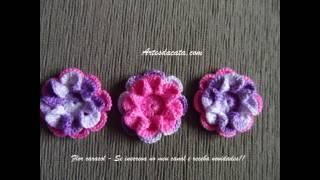 Flor caracol em crochê
