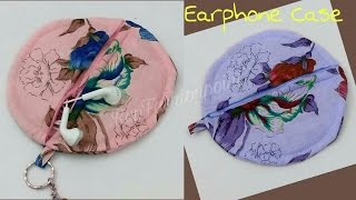 how to make earphone case/pouch home | DIY | Rup Fashion point