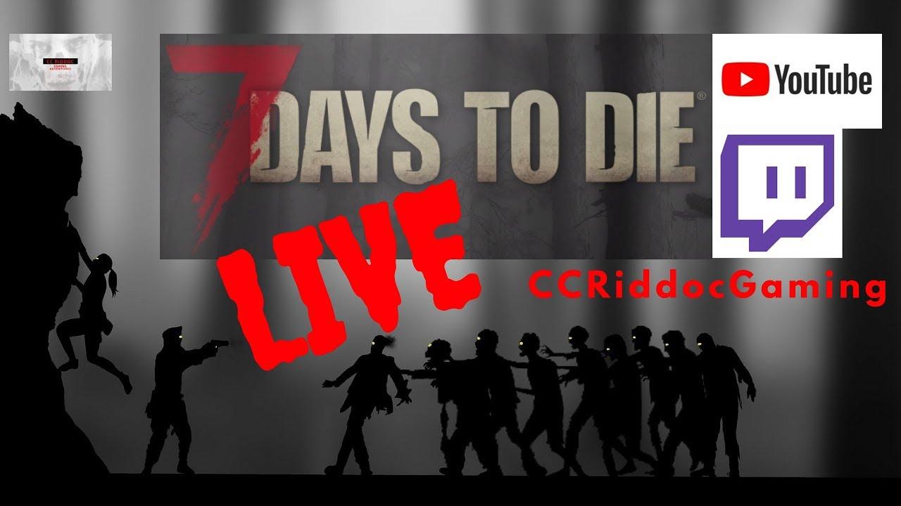 Twitch Live Stream - 7 Days to Die - Navazgane