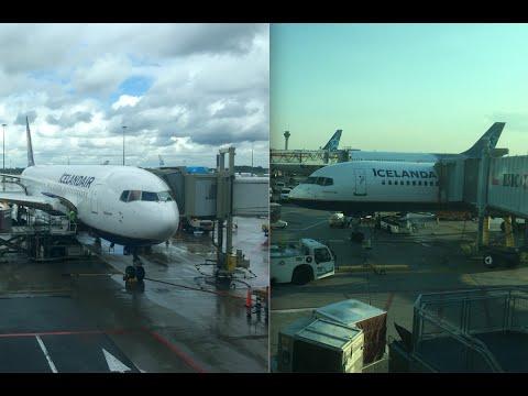 Icelandair AMS-KEF-YYZ B767-319(WL)  TF-ISO & B757-256(WL) TF-ISR 05/08/2016 Business Class