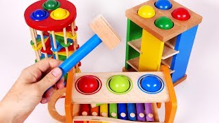 Learn Colors with Pounding Table for Children Learning Compilation Video for Kids