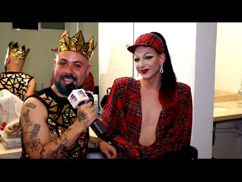 Violet Chachki en México con Johnny Carmona