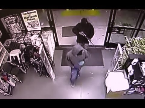 Masked Men Armed With Rifle Rob Caruthers Store