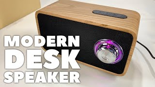 Portable Bluetooth FM Wooden Stereo Speaker by OHHAI Review