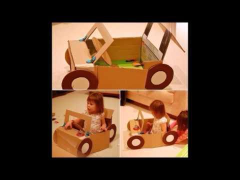 Видеозапись Игрушки из картонных коробок