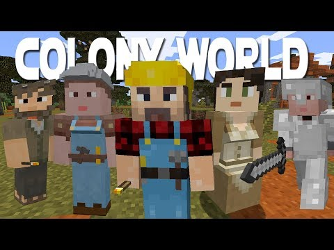 Minecraft Minecolonies 1.12 Colony World Ep 1 - More Than 1 Colony