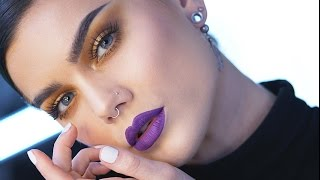Tutorial | Golden Smokey Eyes With A Twist | By Linda Hallberg (In Collab With LH Cosmetics)
