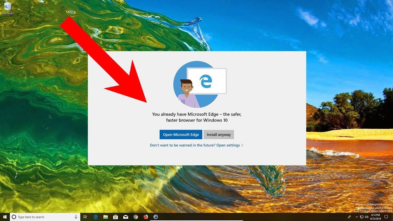 how to install microsoft edge browser on windows 10 enterprise