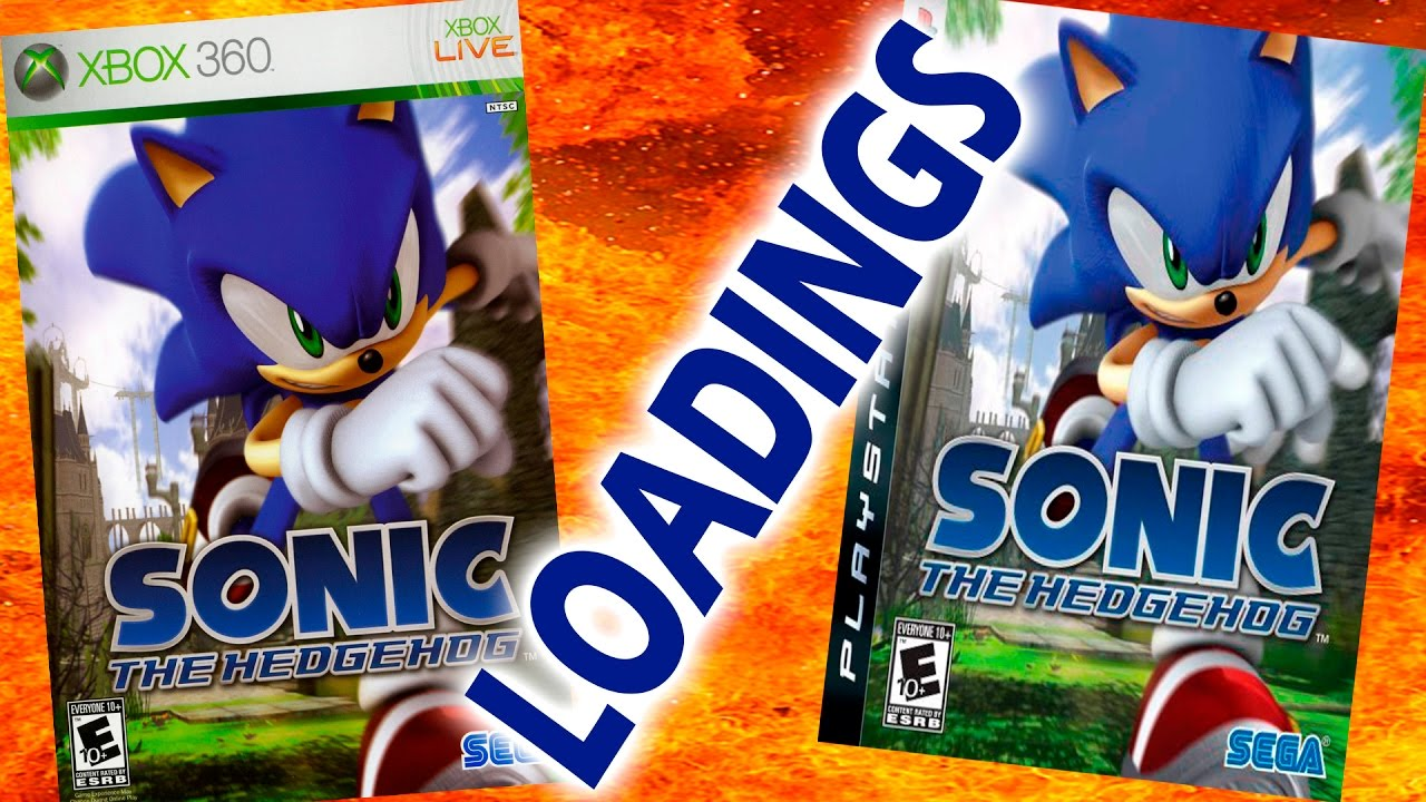 Sonic The Hedgehog 2006 Ps3 Vs Xbox 360 Loading Times Youtube