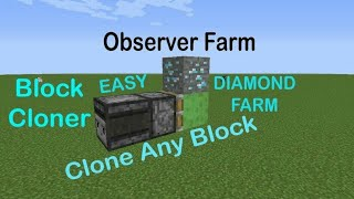 Minecraft Best Diamond Block Cloner Using Observer