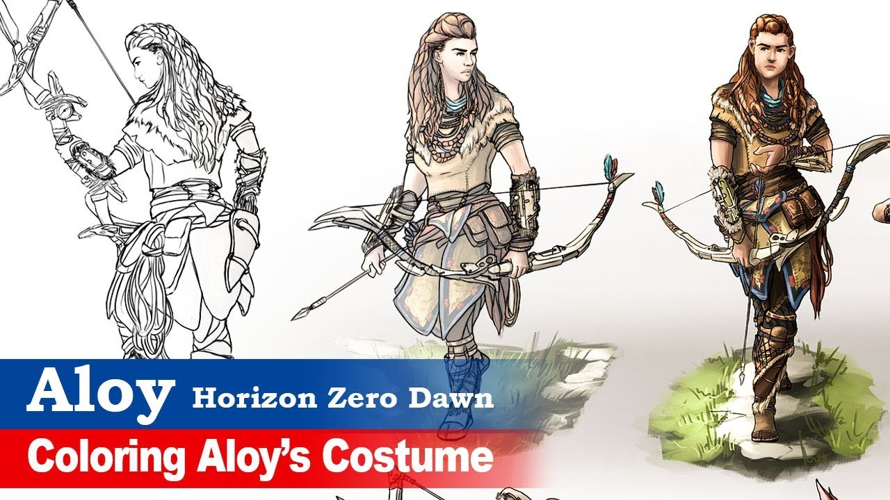 Aloy Horizon Zero Dawn Fan Art 4 Character Coloring