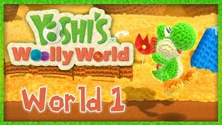 Yoshi Woolly World Part 1 World 1-1 1-2 1-3 Walkthrough Gameplay