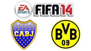 FIFA 14: BOCA JUNIORS VS BORUSSIA DORTMUND (GAMEPLAY)