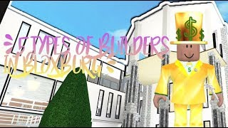 ♡ 5 types of builders in bloxburg (ROBLOX) ♡