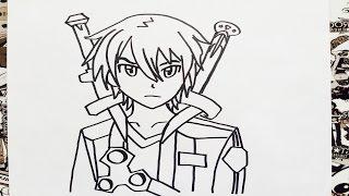 Como dibujar a kirito | how to draw kirito | como desenhar o kirito