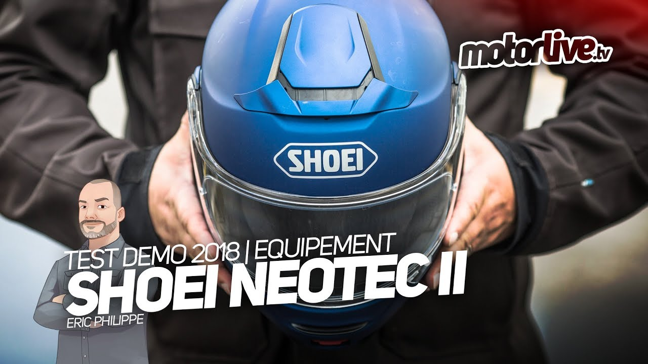 shoei neotec 2 test demo equipement youtube. Black Bedroom Furniture Sets. Home Design Ideas