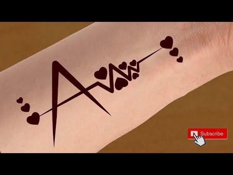 A Name Tattoo Mehndi Design Alphabet A Tattoo Design A Letter