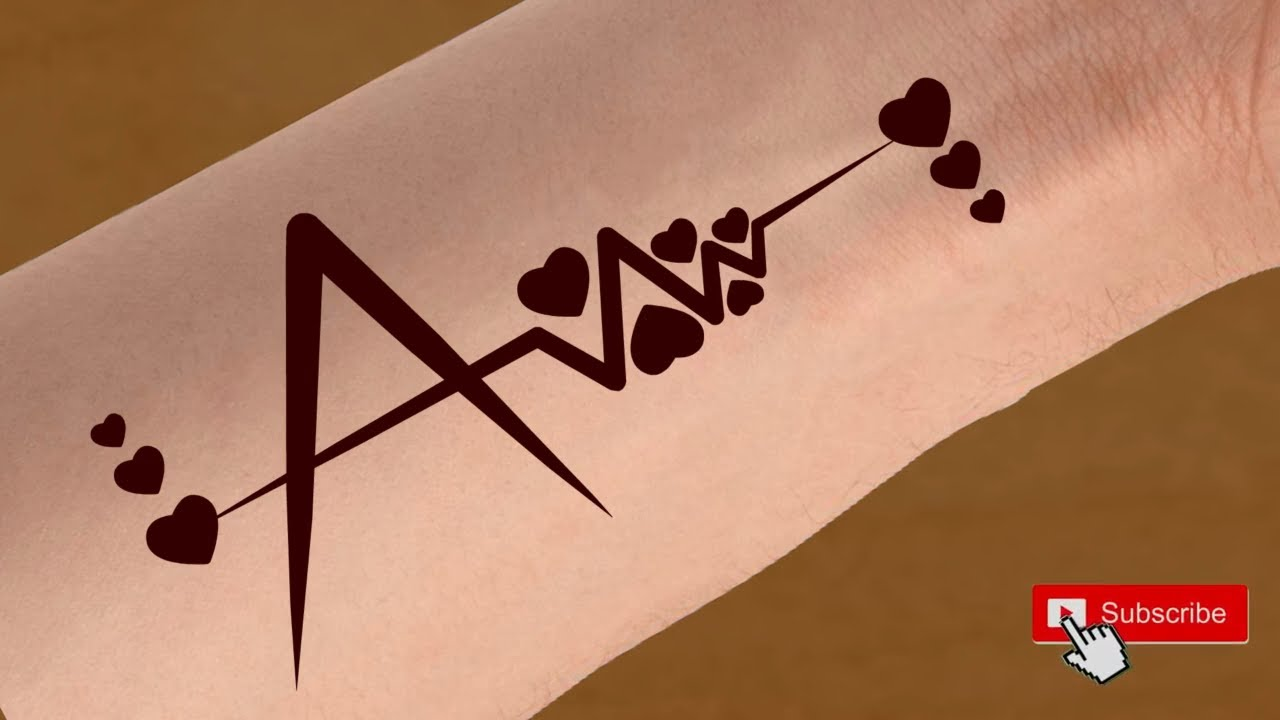 A Name Tattoo Mehndi Design Alphabet A Tattoo Design A Letter Love Tattoo Mehndi Design