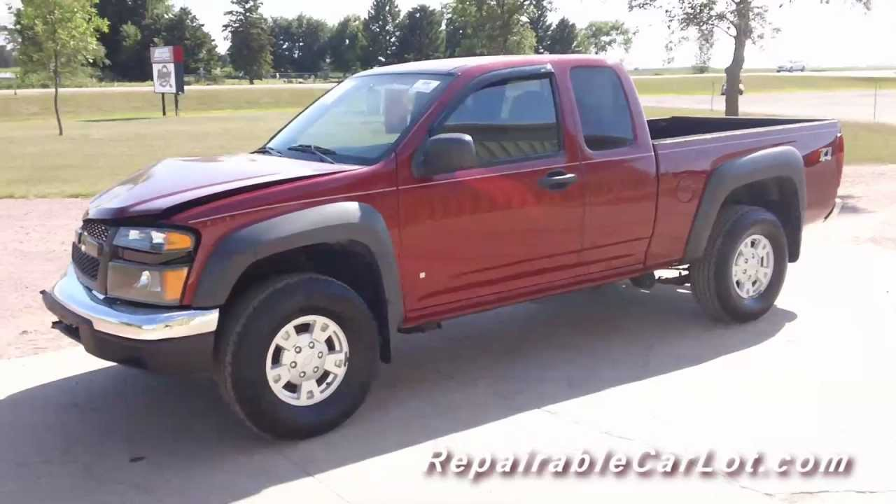 Colorado 2006 chevrolet colorado : 2006 Chevrolet Colorado QuadCab Z71 4x4 - Repairable wrecked Car ...