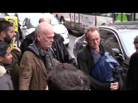 EXCLUSIVE:  Singer Sting arriving at C a vous tv show in Paris