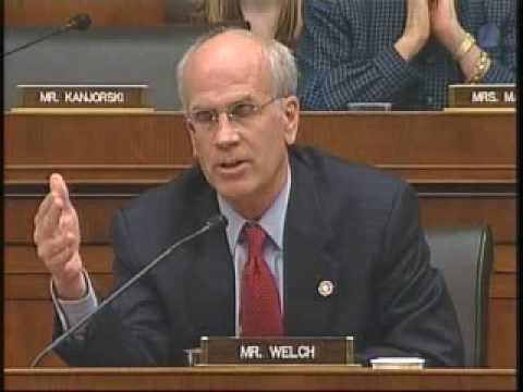 Rep. Peter Welch questions Hank Greenberg