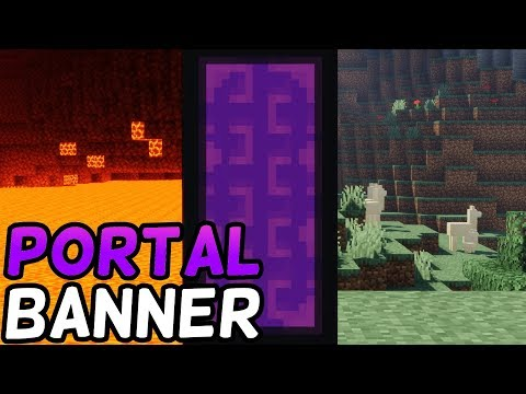 How To Make A Nether Portal Banner In Minecraft! (1.14+) (LOOM CRAFTING)