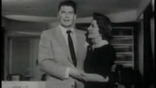 1950's electric lights promo - Ronald & Nancy Reagan