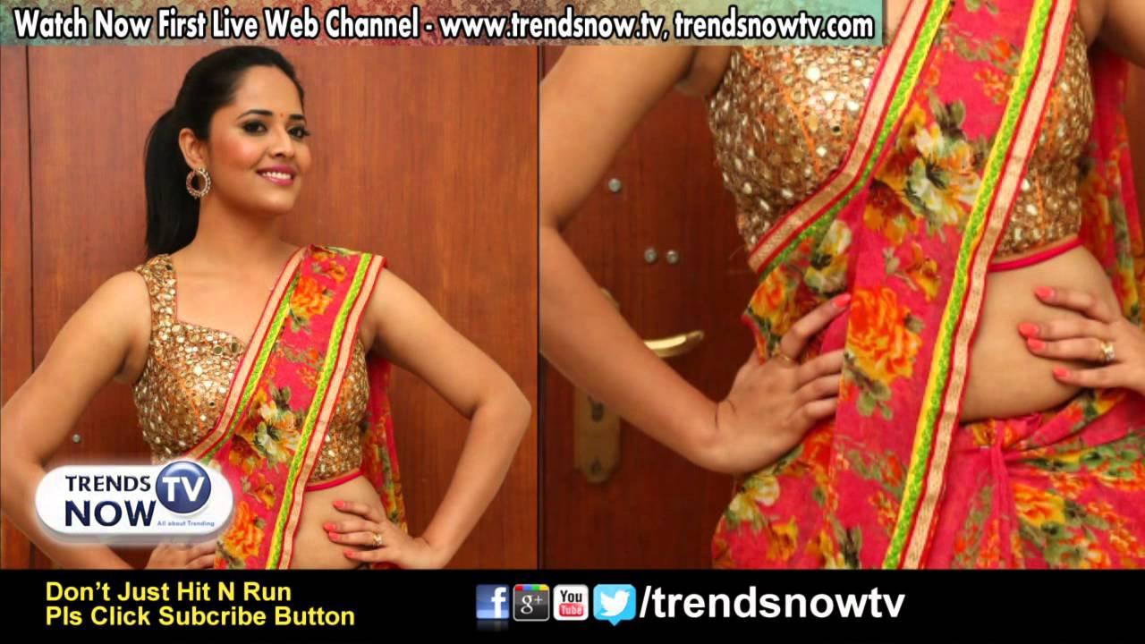 Anchor Anasuya Latest Exposing Hot In Saree Stills Hot Telugu Actress Image